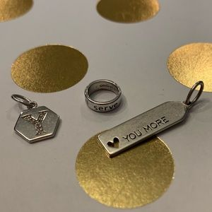 Origami Owl Core affirmation band, tag & letter Y